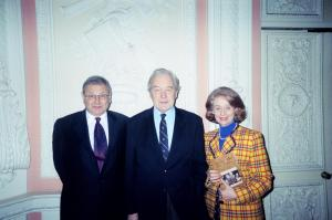author with Sir Martin Gilbert and Valerie Mitchell, Director-General of the English-Speaking Union