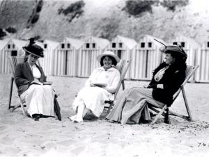 Hendersons at the beach a hundred years ago: Michael's grandmother, aunt and great aunt