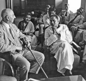 Buchman with JP Narayan, leader of the Praja Socialist Party