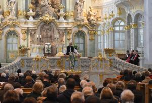 Archbishop of Canterbury, Justin Welby, speaking in the Frauenkirche (Photo: Carola Fritzsche)
