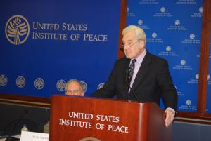 Michael Henderson speaking at the launch at the U.S. Institute of Peace (Photo: Kathy Aquilina)