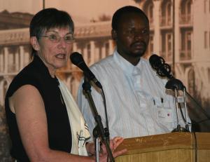 Ginn Fourie and Letlapa Mphahlele (Photo: Joanna Margueritte)