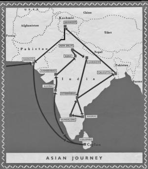 Map of Gandhi trip