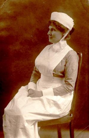 Grandmother Henderson as hospital nurse 1917