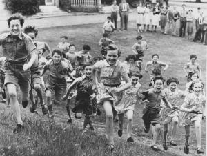 Children at the Actors' Orphanage excited at news about going to America