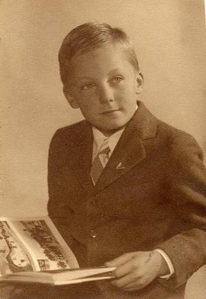 The author as an evacuee in Boston