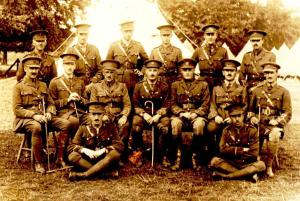 Officers Hampshire Regt ireland 1918