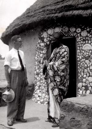 Gerald at the home of the Tolon Na in Northern Ghana