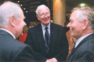 Alan Russell (centre) with hosts in Dresden (Photo: The Dresden Trust)