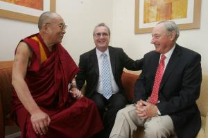 The Dalai Lama, Richard Moore and Charles Innes