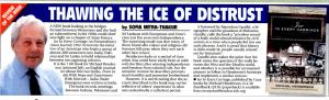 Eastern Eye Review of Ice in Every Carriage,  front page May 21, 2010
