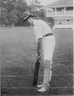 Host, Walter Hinchman, as a cricketer in Philadelphia in 1897