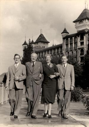 Hendersons in Caux sixty years ago for Family
