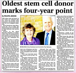 North Devon Journal article about Erica Henderson