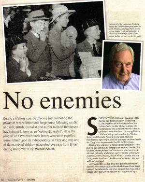 The article in Reform magazine first page